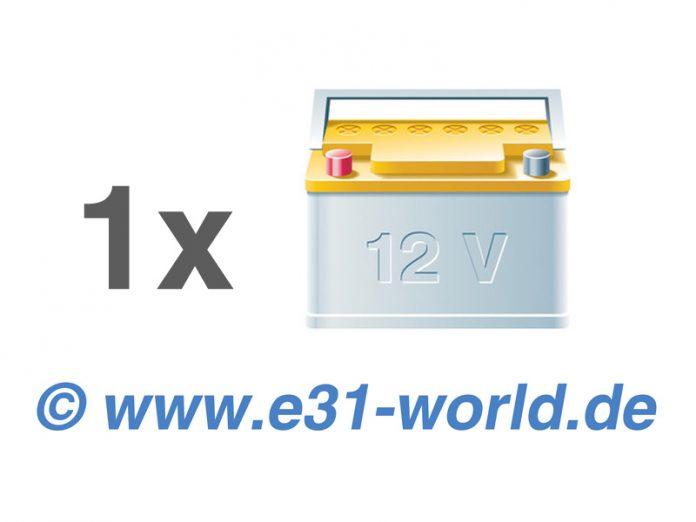 Umrüstung von 2 Batterien auf 1 Batterie am 8er BMW E31