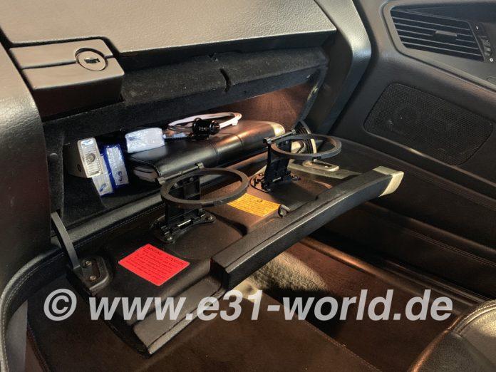 Getränkehalter am 8er BMW E31 - Nachrüstung