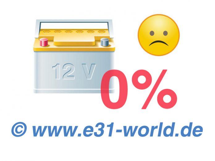 Leere Batterien am 8er BMW E31